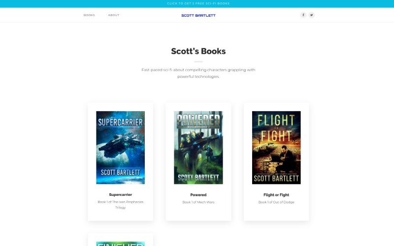 The 7 essential elements of an awesome author website your first keep all your books well organised and simple to find organise them by genre or series and make life easy for readers just like this example from scott fandeluxe Choice Image